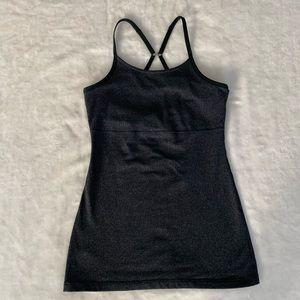 Beyond Yoga Black/Grey Stretch Tank/Cami Size S-M